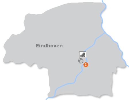 Karte mit Pensionen und anderen Unterk�nften in Eindhoven