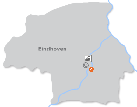 Karte mit Pensionen und anderen Unterkünften in Eindhoven
